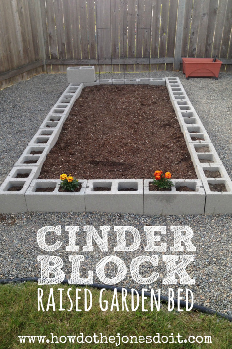 What a great way to start growing some vegetables this summer! An easy way to start a raised garden bed.
