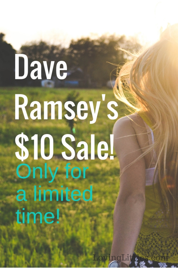 Have you ever wanted to try one of Dave Ramsey's financial programs? Well now is the time to do it! They are all on sale!