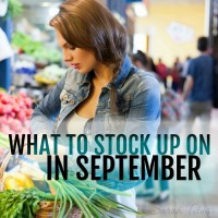 What to Stock Up on in September