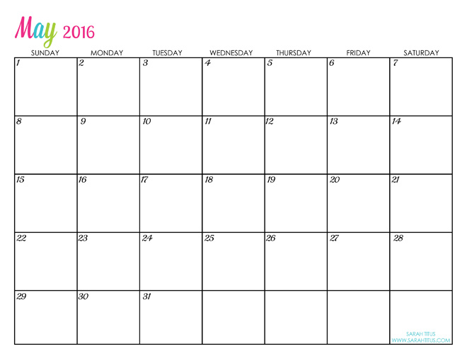 660 x 510 jpeg 61kB, Custom Editable Free Printable 2016 Calendars ...