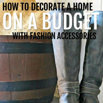 Creating a warm and inviting space doesn't have to cost a fortune! Check out how to decorate your home on a budget with fashion accessories!!!