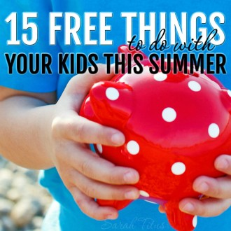 There are so many things you can do that don't cost a penny and will keep the kids entertained for HOURS! Here are 15 free things to do with your kids this summer.