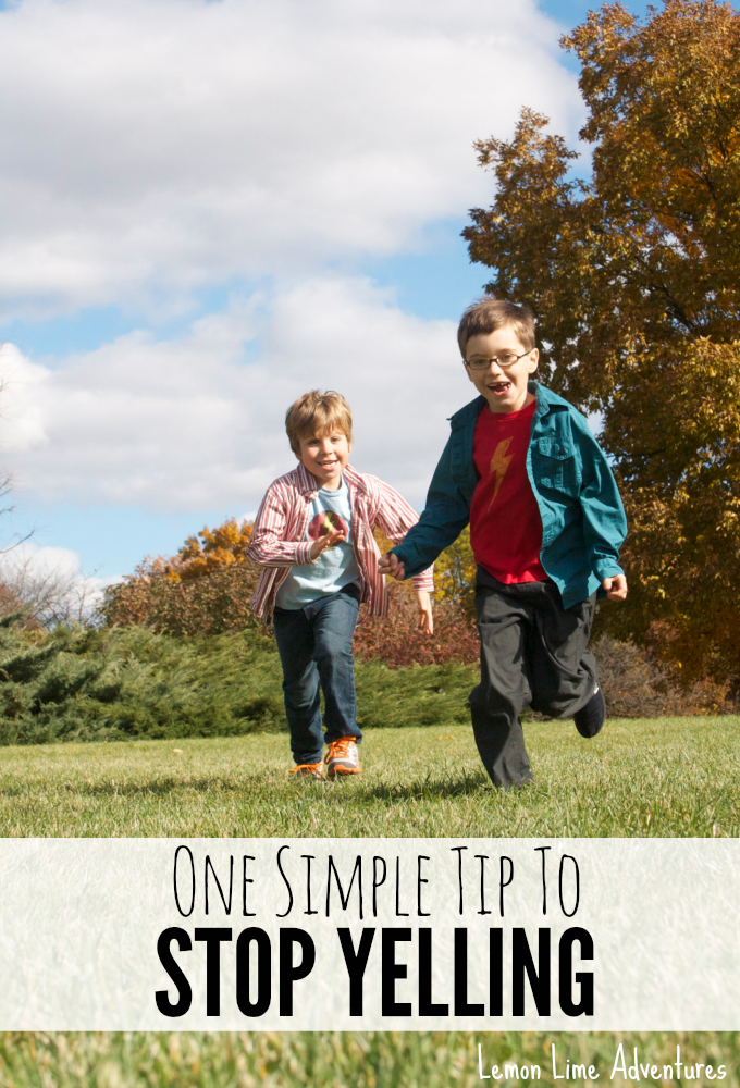 We've all been there- yelling at our kids, and the regretting it afterwards. This 1 simple (and easy!) tip will help stop you from yelling next time!