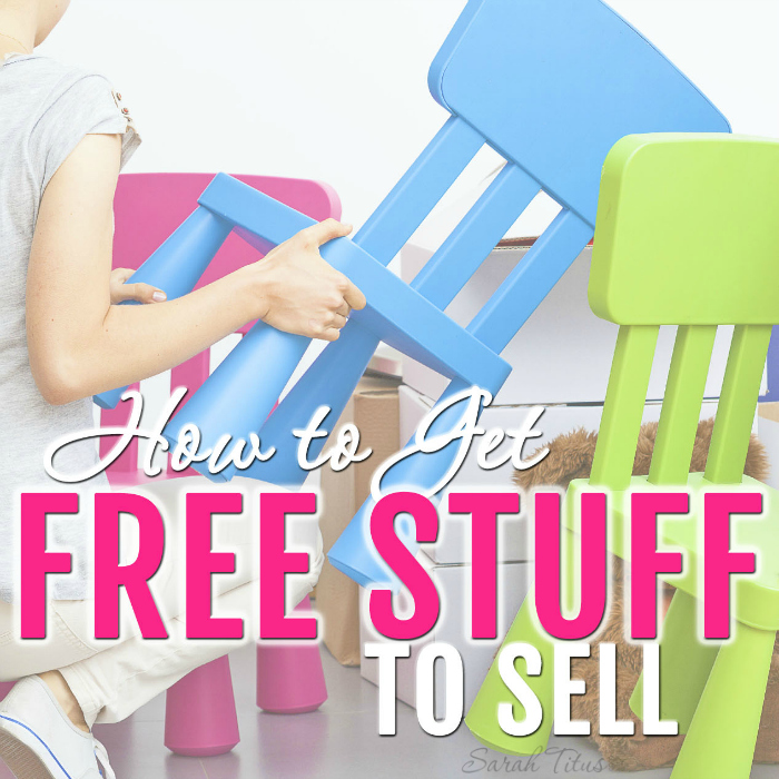 How to get free stuff to sell sarah titus for Items to make and sell from home