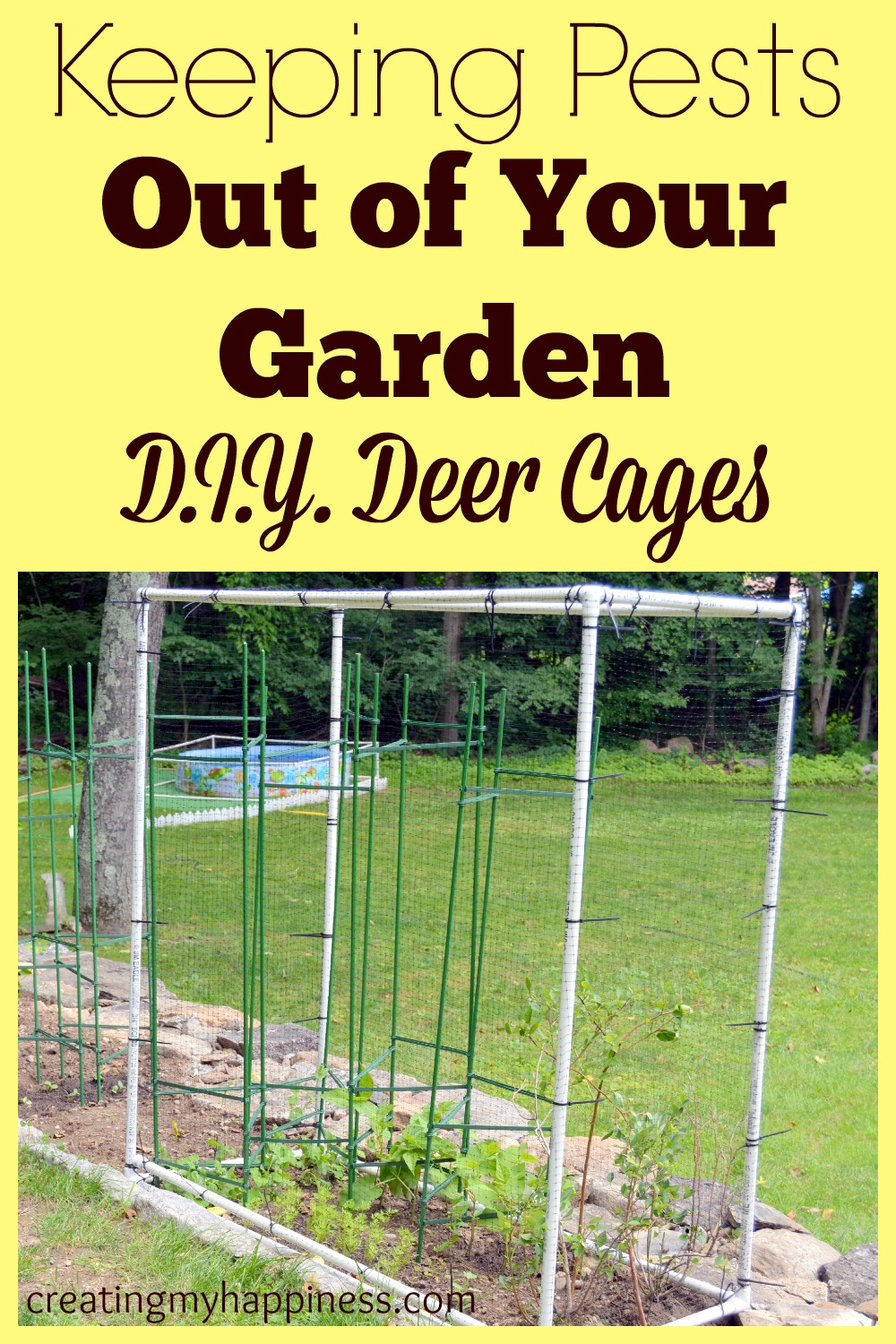 If you have a garden, you  know how hard it is to keep deer and other animals out! This is a definite garden must have.
