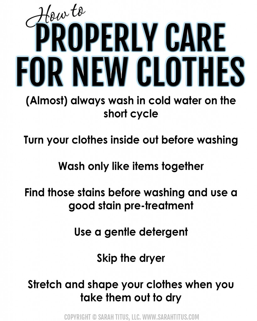 laundry care printable