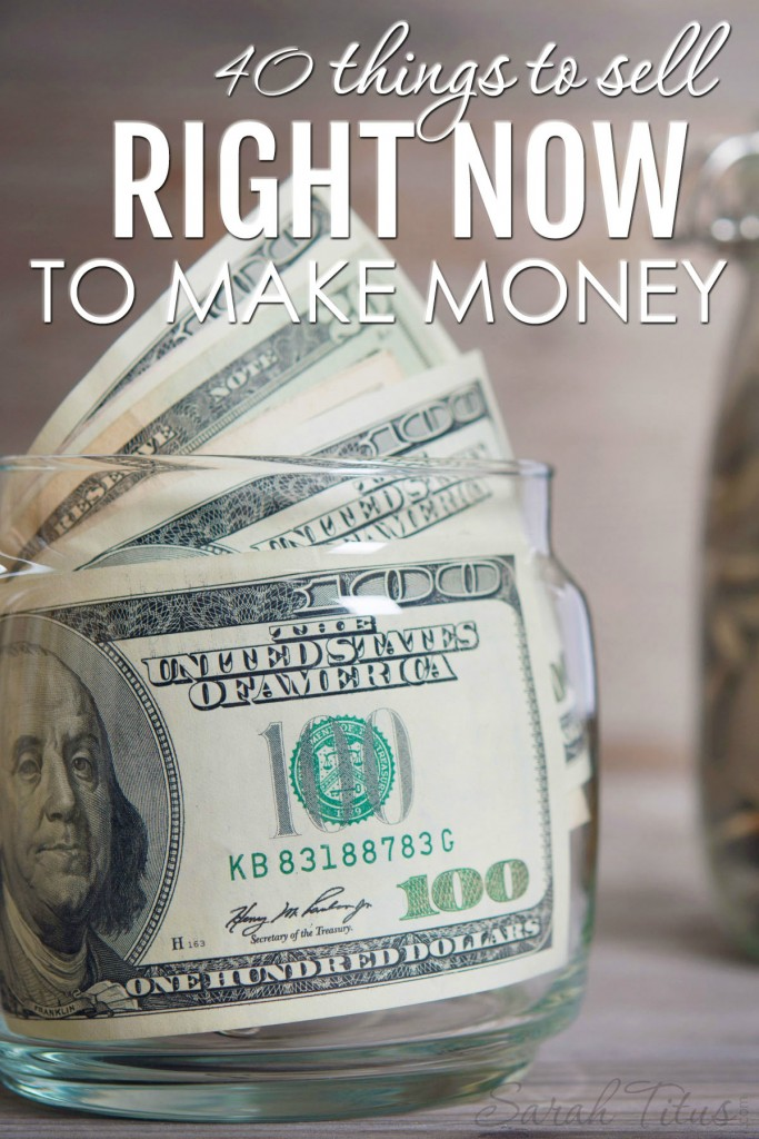 Whatever the reason that you need money right away, you don't have to sell your blood. There are tons of other things to sell and plenty to do. Take it from a single stay at home mom who's been making money from home for 20 years!!! Here are 40 things to sell right now to make money. #makemoney #thingstosell #whattosell #selltomakemoney