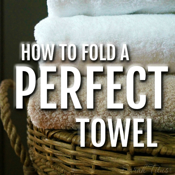 This incredibly easy trick will make all your towels look when they are all folded perfectly the same in your linen closet -- How to fold a perfect towel.