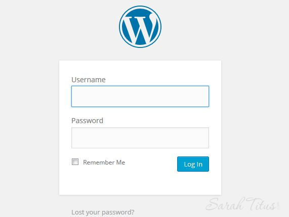 wordpress dashboard log in page