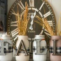 Fall Mason Jar Family Craft