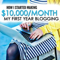 How I Started Making $10,000/month My First Year Blogging