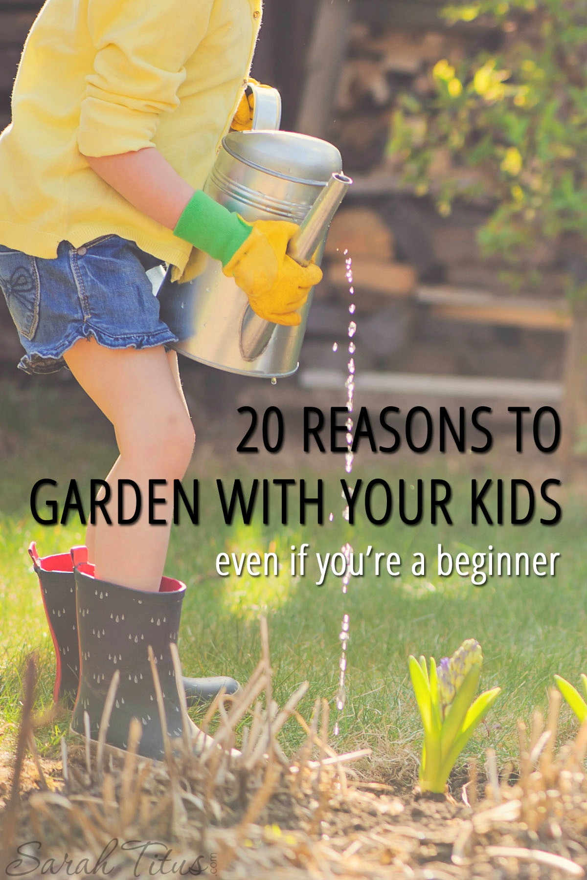 Gardening with your kids can be such a great learning activity and something they really enjoy. See all 20 reasons to garden with your kids even if you're a beginner!