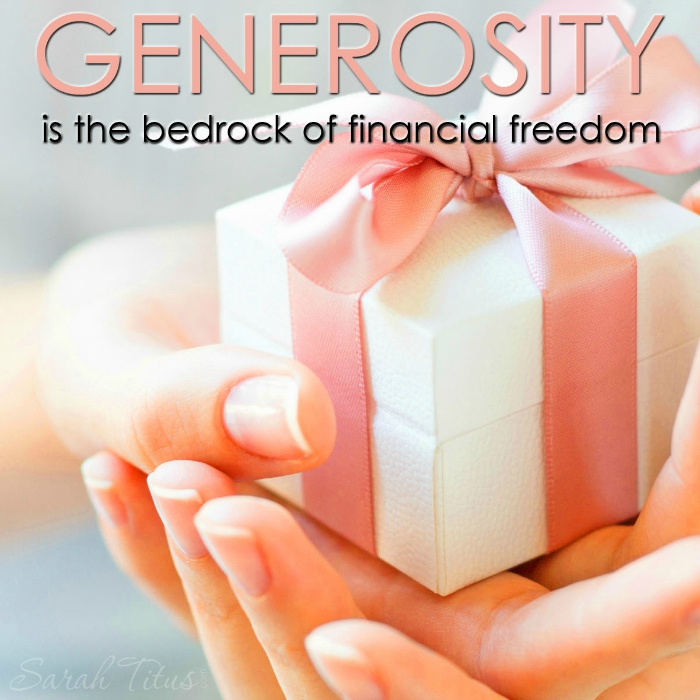"Woah, her debt free story is amazing! My favorite part is where she says, ""Generosity is the bedrock of financial freedom."" YES!"