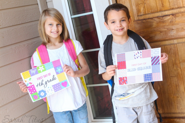 Free First Day of School Printable Sign - Sarah Titus