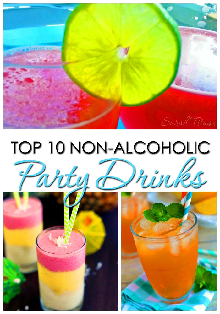 These drinks are not only non-alcoholic, but they are sure to impress at your next get-together. After searching for days, here are my favorite top 10 non-alcoholic party drinks.