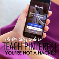 The Number 1 Thing to Do To Teach Pinterest You're Not a Hacker
