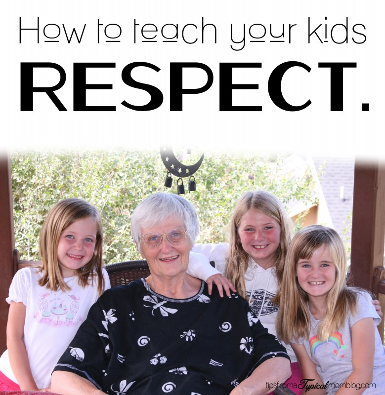 The basics of teaching children to be respectful at any age!