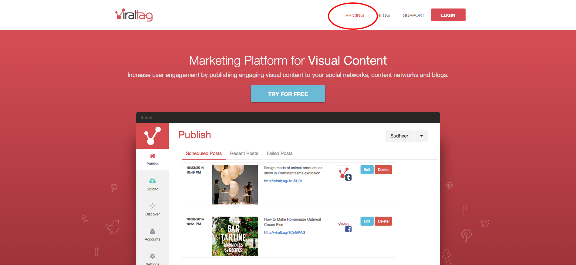 Viraltag Pinterest Marketing Management Tool for Brands Businesses Bloggers