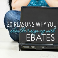 20 Reasons Why You Shouldn't Sign Up With Ebates