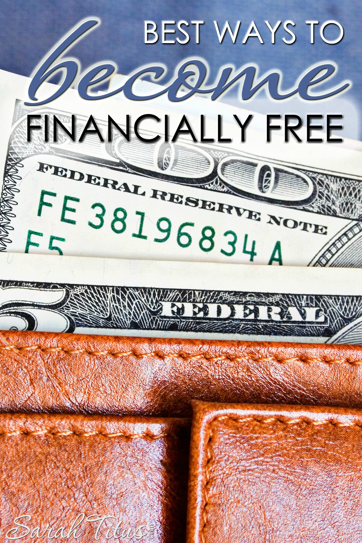 If you're sitting there feeling like a failure, like you'll NEVER get out of debt, be encouraged. You didn't get into debt in a day and you won't get out of debt in a day either, but with reading and practicing these best ways to become financially free, you CAN make it!