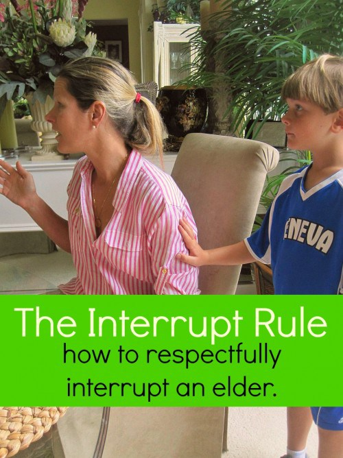 """Doesn't it always seem like your kids never need you until you are busy doing something else? This """"no interrupt rule"""" will teach them how to politely get an elder's attention."""