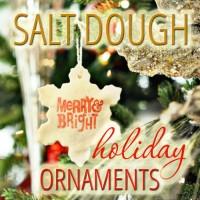 Salt Dough Holiday Ornaments