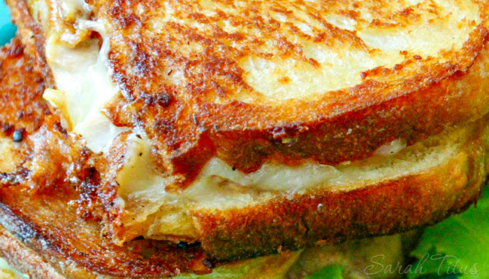 Delicious looking Tuna Melt grilled sandwich