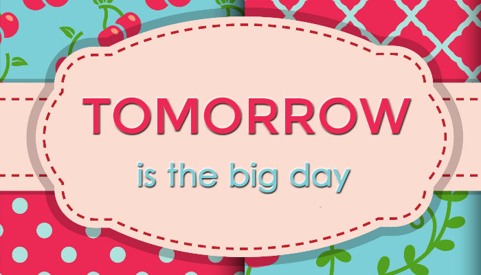 Tomorrow is the Big Day!