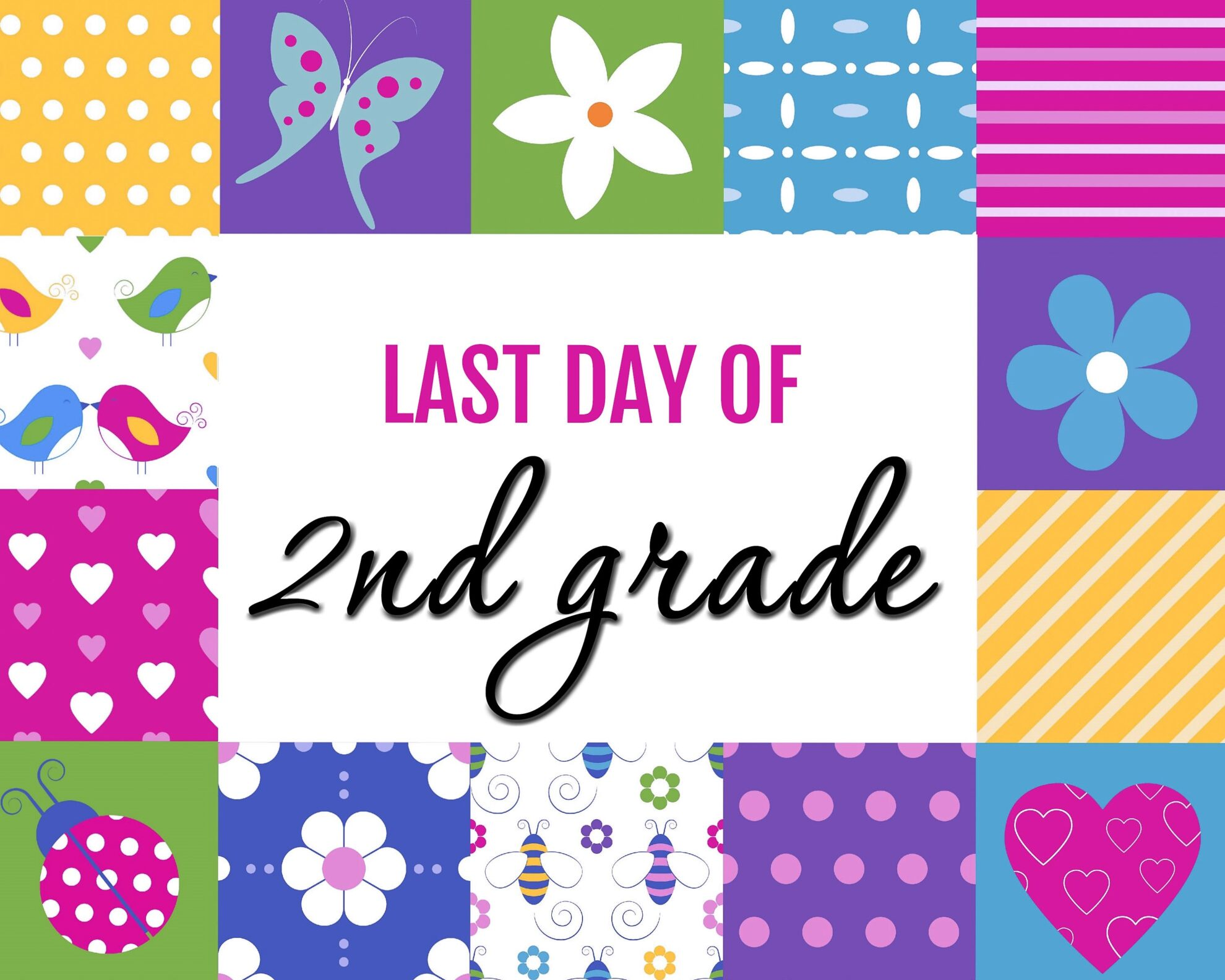 image relating to Last Day of 2nd Grade Printable titled Closing Working day of University Totally free Printables - Sarah Titus