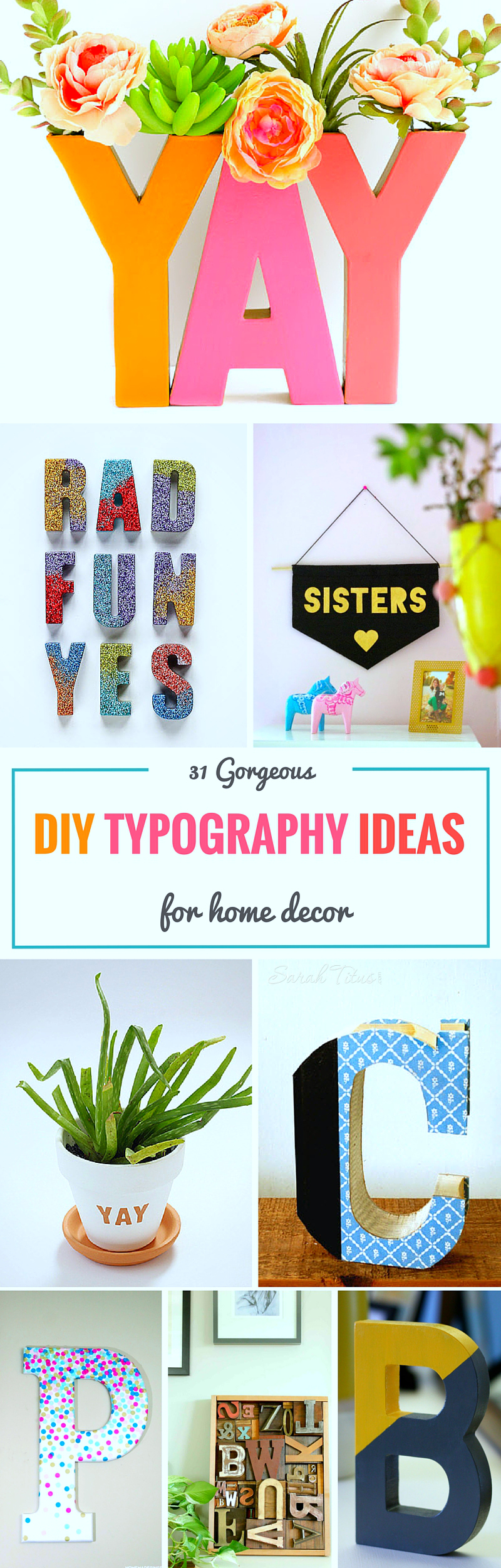 31 Gorgeous DIY Typography Ideas for Home Decor Sarah Titus