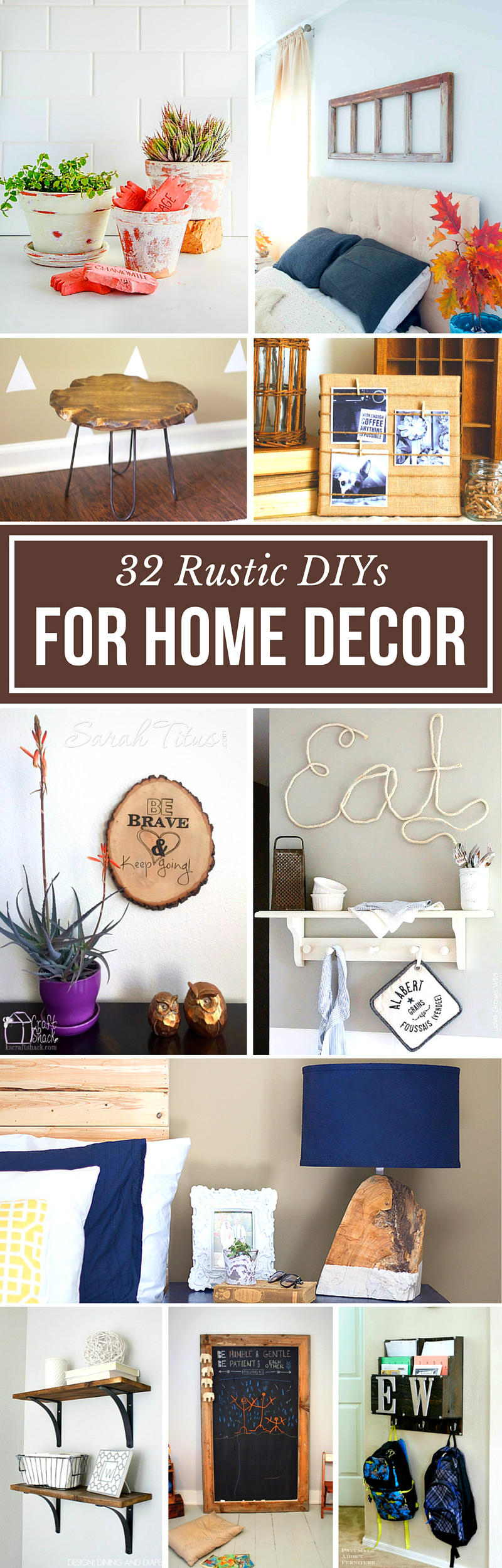There are so many cute designs in the rustic home decor category, but these will give your home a touch of elegance! Here are 32 rustic DIYs for home decor.