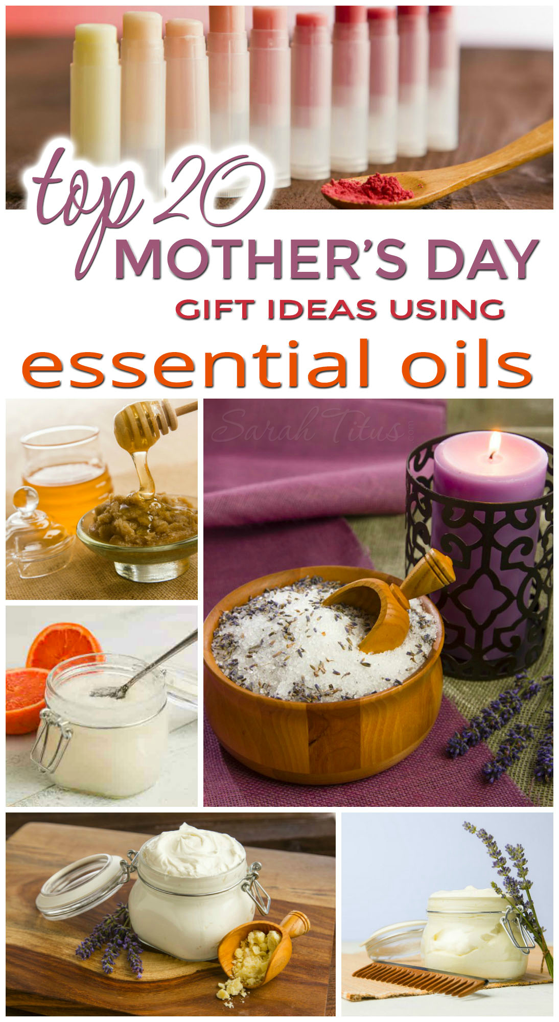 If you're looking to save money and gift a health-conscience gift, these top 20 Mother's Day gift ideas using essential oils are perfect for you!