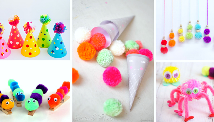 30 Cutest Toddler Pom Crafts