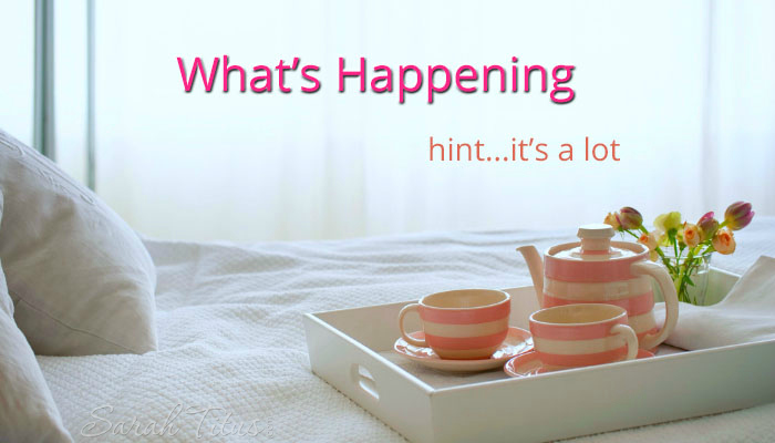 What's Happening…Hint: It's a Lot!