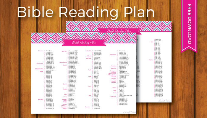 Household Binder: Bible Reading Plan