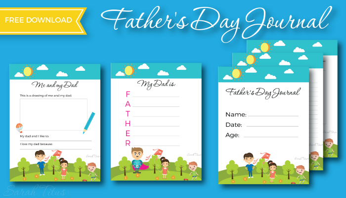 Father's Day Journal Free Printables