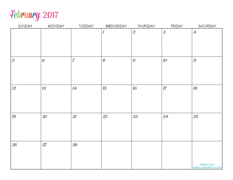 free fill in calendar template