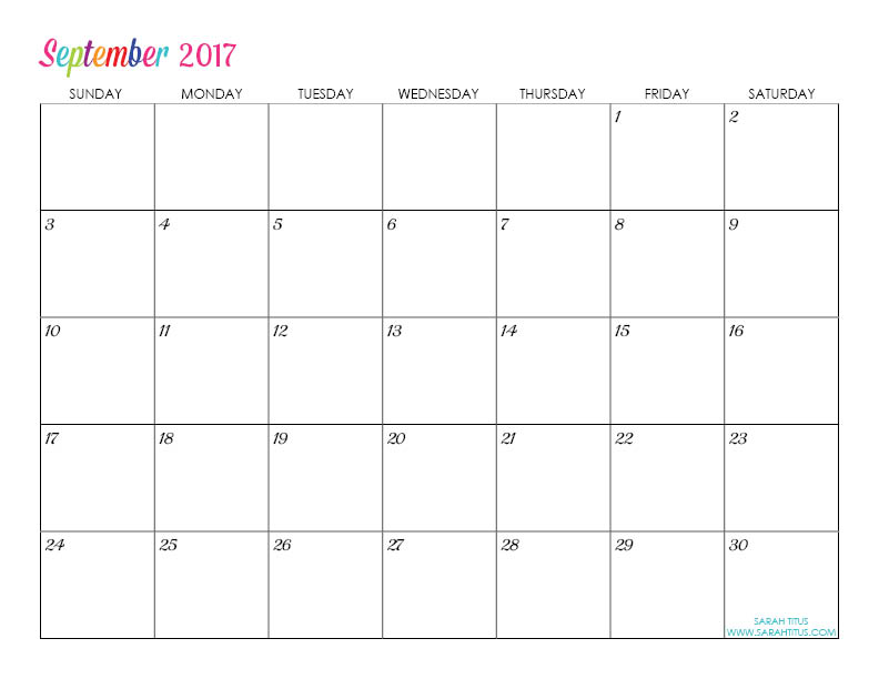 online calendars 2017