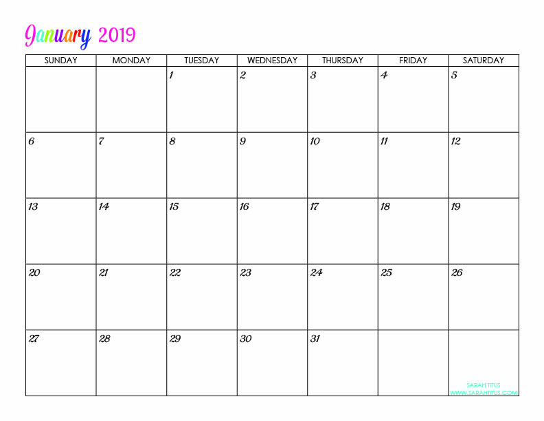 free printable 2019 calendars completely editable online use them for menu planning
