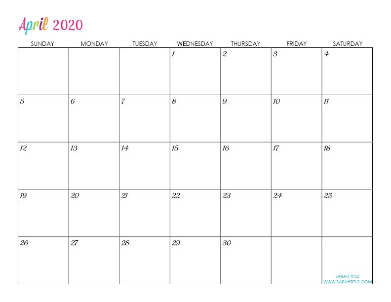 This is an image of Nerdy 2020 Printable Planner