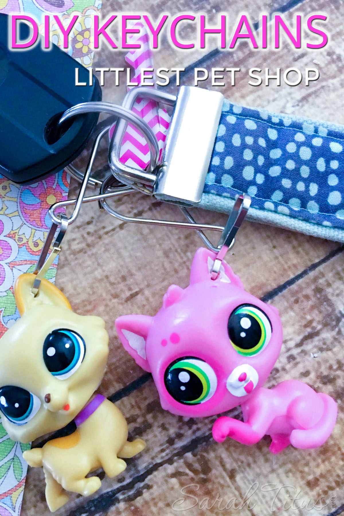 Everybody loves LPS, but there's a huge shortage of cute LPS stuff! So, we make OUR OWN! Here's a super easy DIY Littlest Pet Shop Keychains project that is lots of fun!