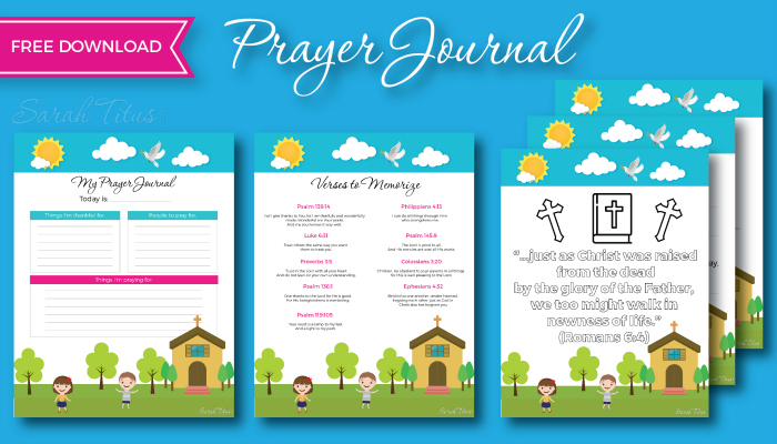 photograph relating to Free Printable Prayer Journal Pdf identify How in the direction of Start out a Little ones Prayer Magazine - Sarah Titus