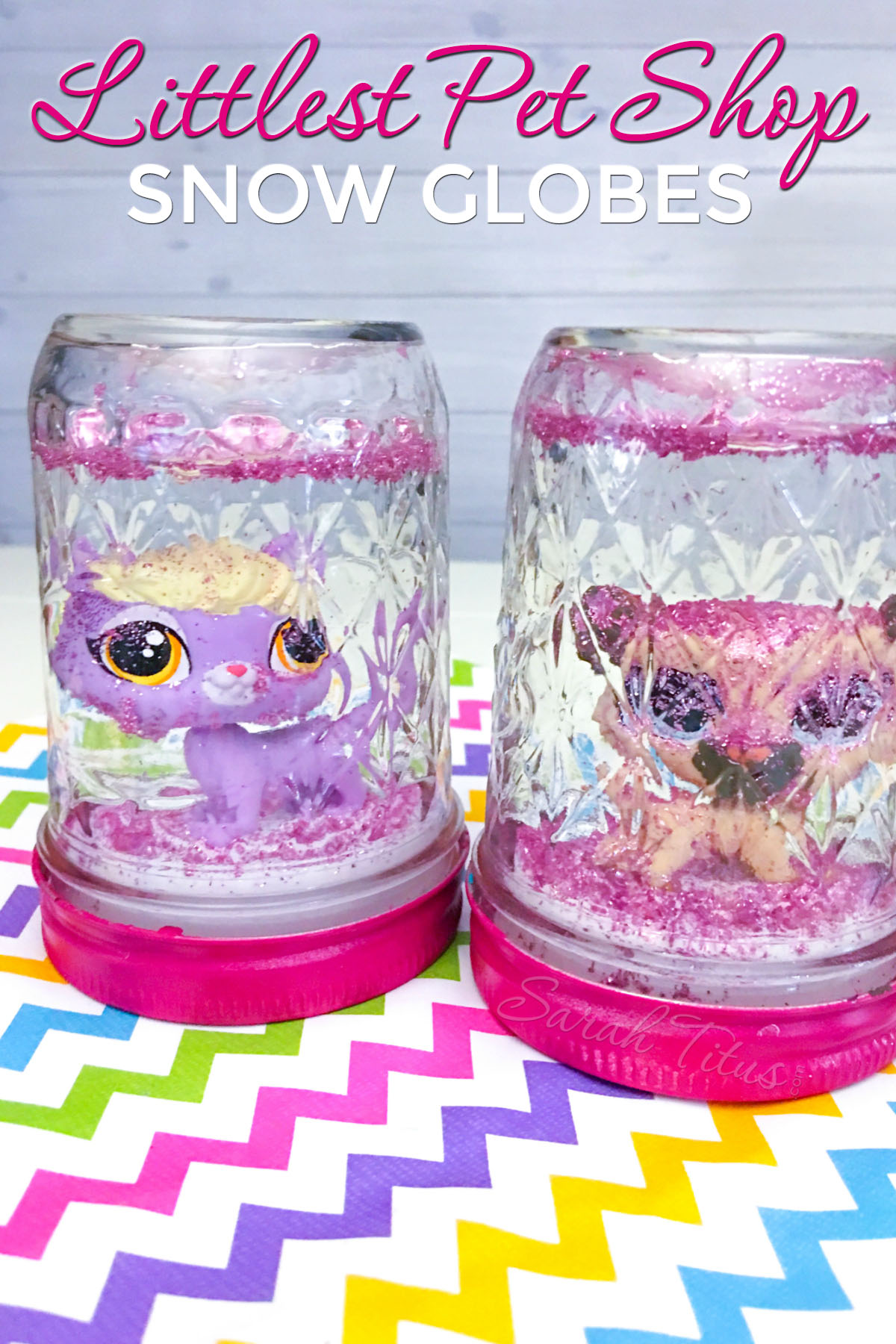 These Littlest Pet Shop snow globes are the perfect DIY craft to make for a play date, a birthday party, or the holiday season. LPS rocks!