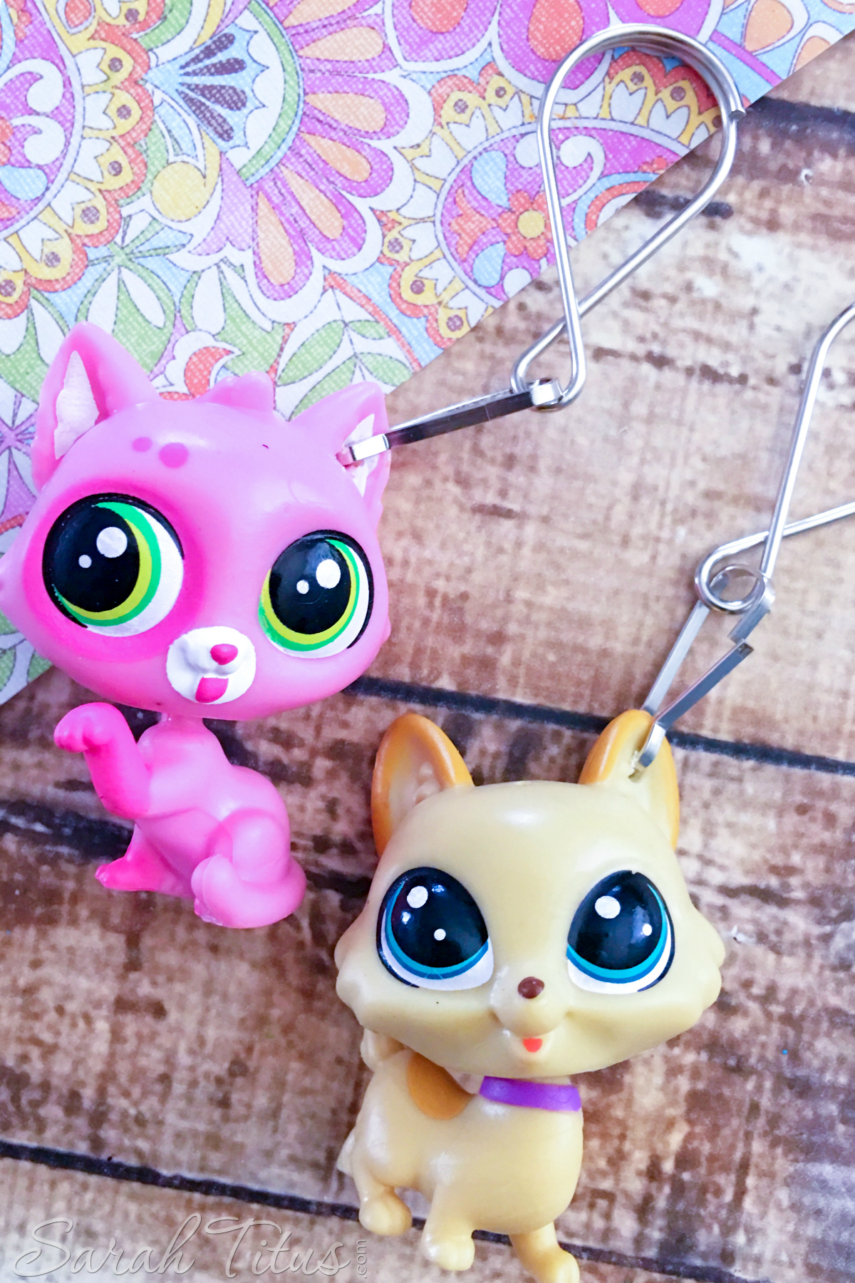 Attaching keychain hook and loop to Littlest Pet Shop's ears
