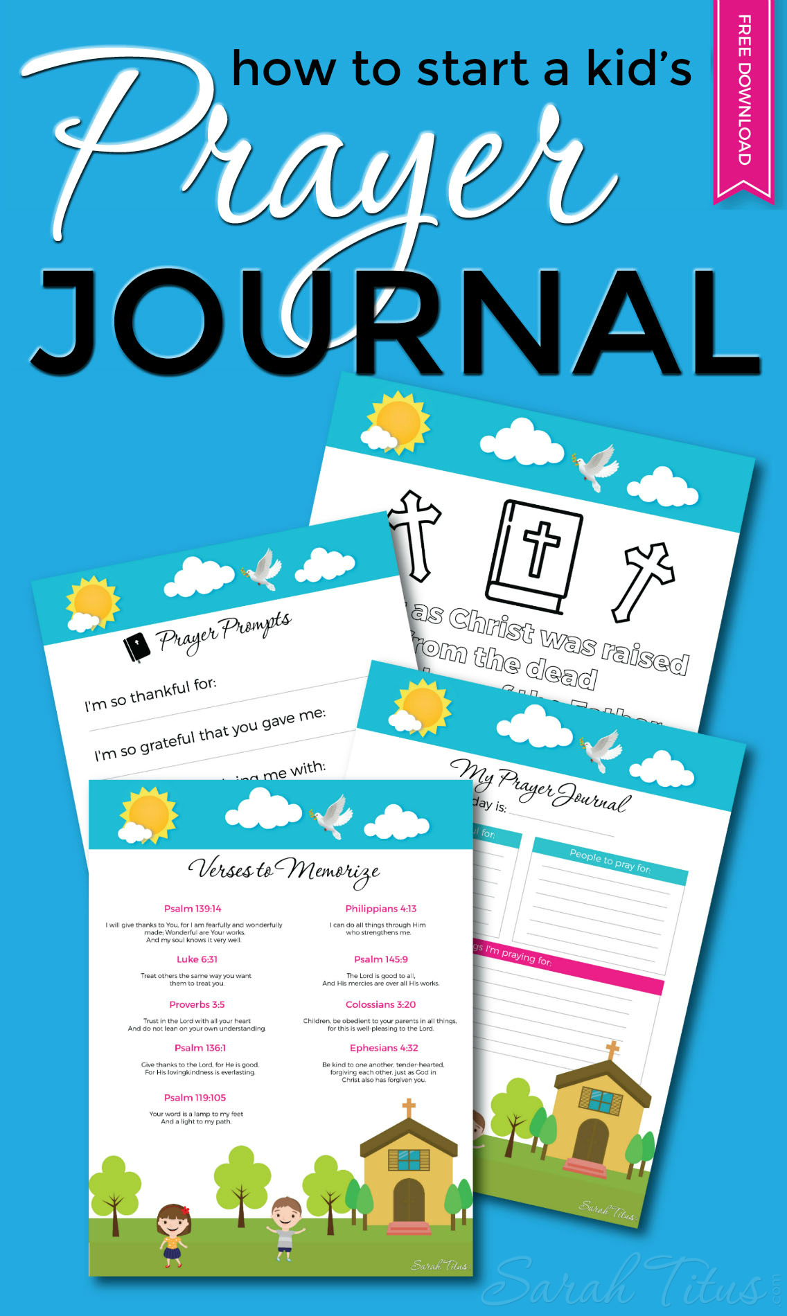 A rock-solid prayer life is one of the best gifts you can give your kids, but it can be difficult to get them there. Here's how to start a kid's prayer journal and get them excited about praying, plus some free printables to boot!