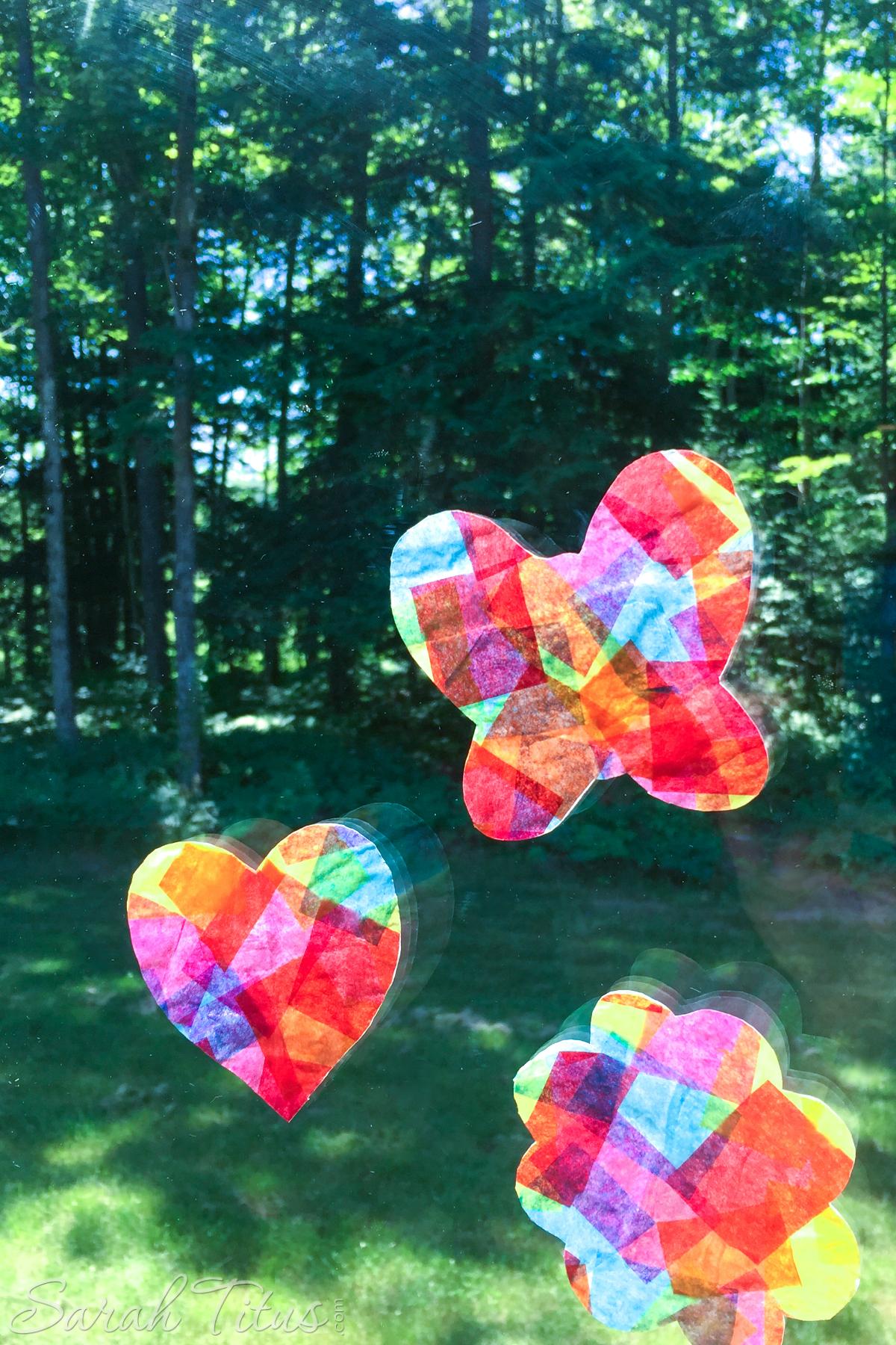 Tissue Paper Suncatchers
