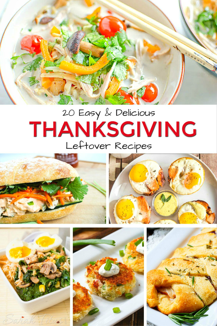 Thanksgiving is a holiday known for gorging...but what if you don't this year?! What if you use these Thanksgiving leftover recipes to turn them into future meals?