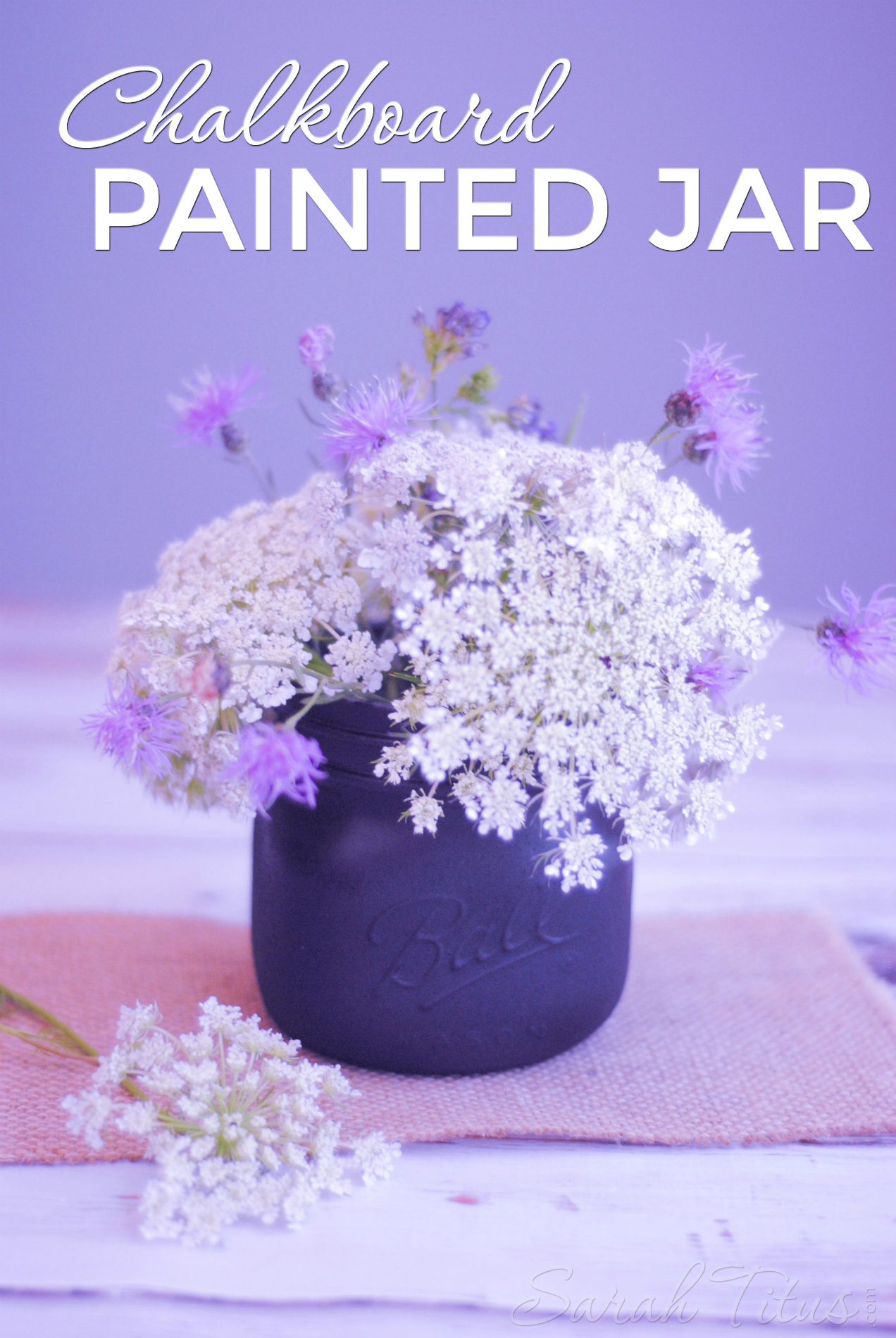 This chalkboard painted jar is an incredibly easy project that would make the perfect centerpiece decoration! Keep for yourself or give as a gift and write your message in chalk!