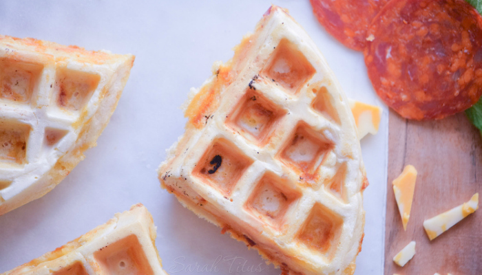 I don't care who you are- you're gonna LOVE these pizza waffles!