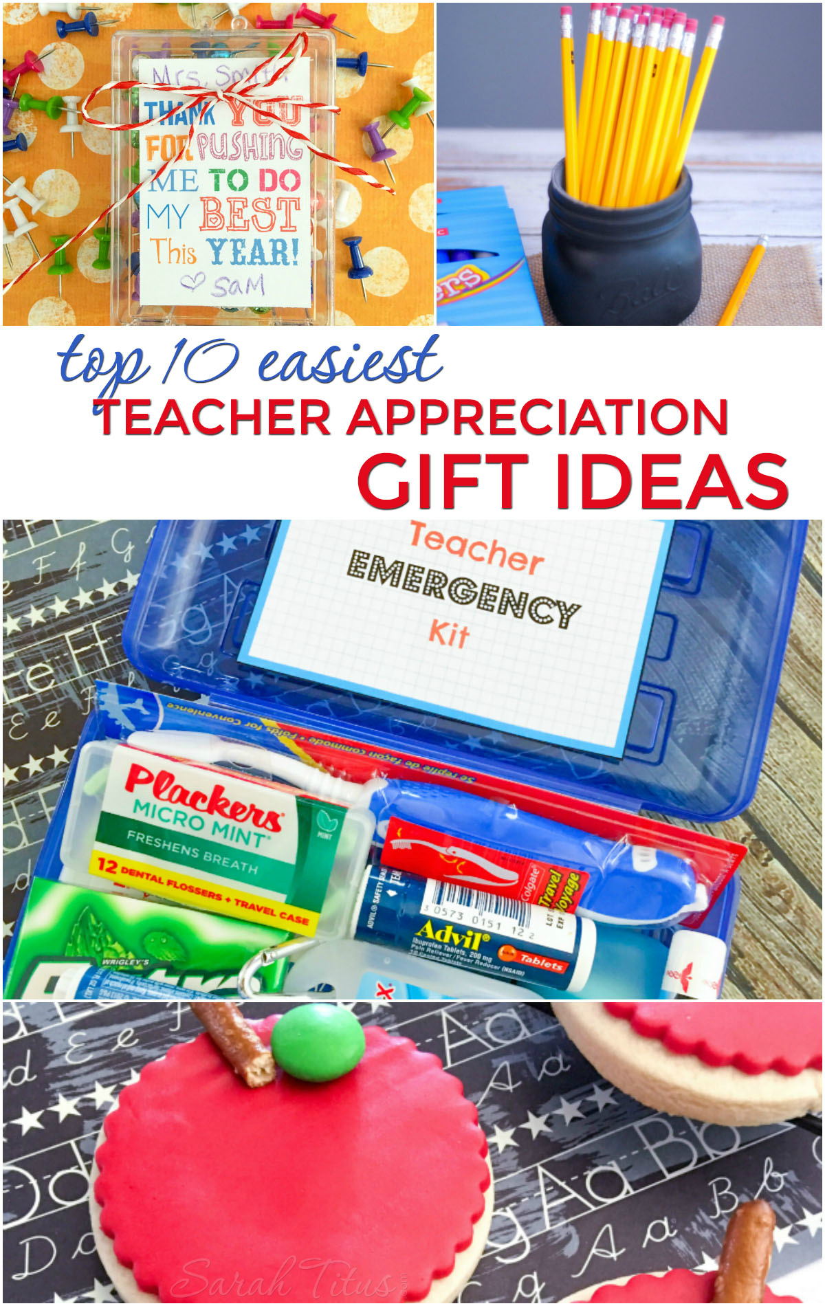 Whether they are heading off to school or just letting out for the summer, these easiest teacher appreciation gift ideas are perfect for the occasion.